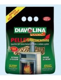 DIAVOLINA PELLET SPAZZACAMINO KG.1,5 Miglior Prezzo