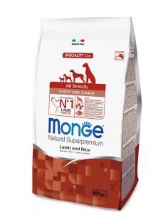 MONGE ALL BREED PUPPY MONOPR. MANZO RISO KG.2,5 Miglior Prezzo