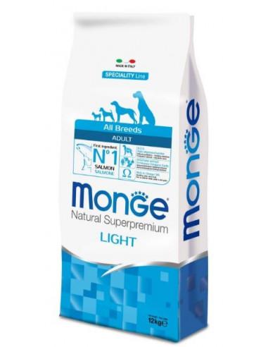MONGE ALL BREED LIGHT SALMONE RISO KG.12 Miglior Prezzo