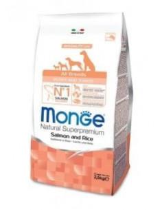 MONGE ALL BREED PUPPY SALMONE RISO KG.2,5 Miglior Prezzo