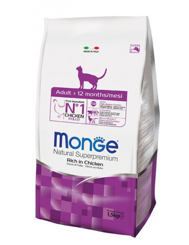 MONGE CAT ADULT POLLO KG.1,5 Miglior Prezzo