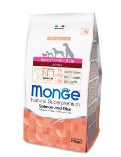 MONGE EX. SMALL ADULT SALMONE RISO KG.2,5 Miglior Prezzo