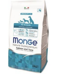 MONGE HYPOALLERG. SALM/TONNO KG.2,5 Miglior Prezzo